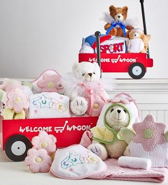 Hello Baby! Deluxe Boy or Girl Welcome Wagon