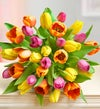 30 Assorted Tulips Stems Bouquet Only