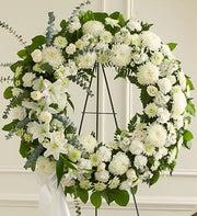 Serene Blessings White Standing Wreath