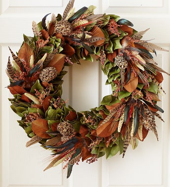 Turkey and Pheasant Feather Wreath
