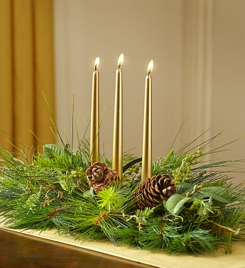 Faux Evergreen Centerpiece