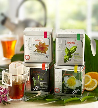 organic tea in reusable basket