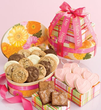 gourmet floral gift tower for mom
