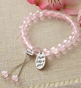 Breast Cancer Awareness Pink Crystal Bracelet