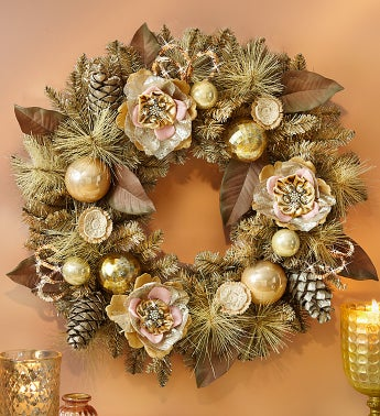 Vintage Faux Holiday Wreath