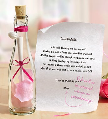Personalized Message in a Bottle� Nurse