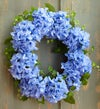 Faux Blue Hydrangea Wreath - 18