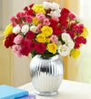 Spray Roses, 50-100 Blooms + Free Vase