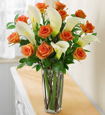 Autumn Rose and Calla Lily Bouquet