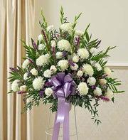 Heartfelt Sympathies Lavender Standing Basket