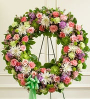Serene Blessings Standing Wreath - Pastel