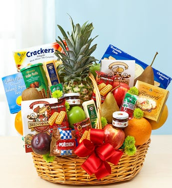 Deluxe Fruit & Gourmet Basket