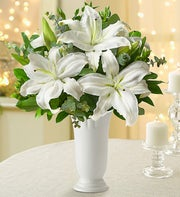 All White Lily Bouquet
