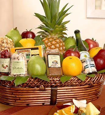 Bountiful Fruit & Gourmet Gift Basket Deluxe
