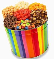 Bright Stripe 7 Snack Tin