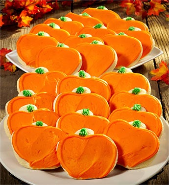 Cheryl's Frosted Pumpkin Shaped Cookies