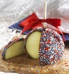 Patriotic Caramel Apple with Candy Stars