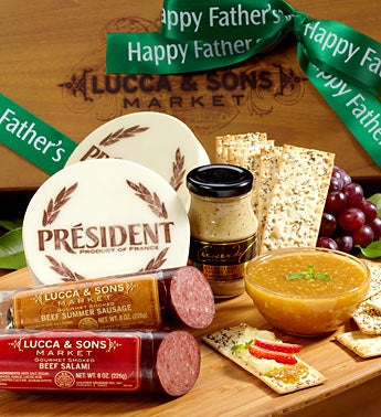 Lucca & Sons Fathers Day Deluxe Meat & Cheese Box