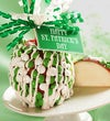 St. Patrick?s Day Caramel Apple with Candies