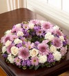 Cremation Wreath - Lavender and White