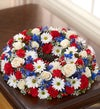 Cremation Wreath - Red, White and Blue