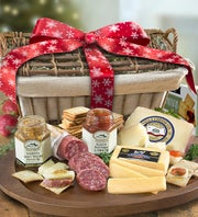 Grand Holiday Meat & Cheese Gift Basket