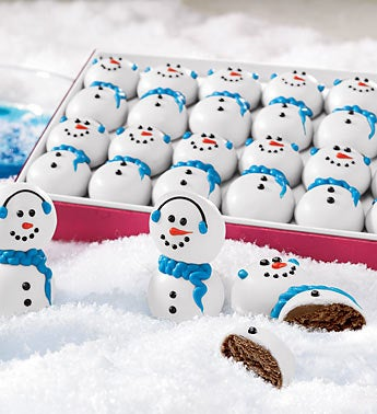 Wintry Snowman Truffles