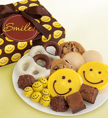 Cheryl?s Happy Face Cookies & Treats Gift Box