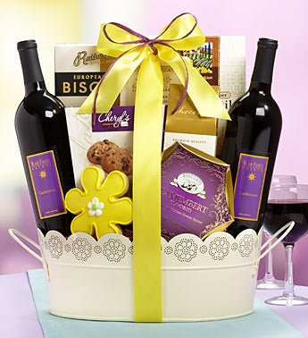Flowers of Summer Wine Gift Basket