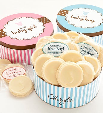 Cheryl's Sweet New Baby Boy Gourmet Cookie Tin