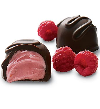 Fannie May Dark Chocolate Covered Raspberry Creams