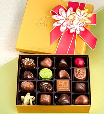 Godiva Chocolates 19 pc Spring Ballotin