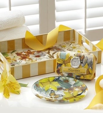 Narcissus Vanity Tray, Soap Dish and Soap Set