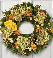 Yellow Rose Wreath