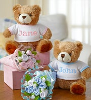 Bear & Layette Bouquet