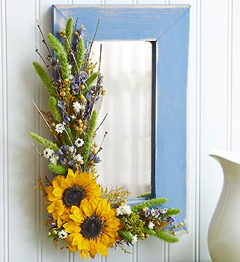 Sunflower Blue Mirror