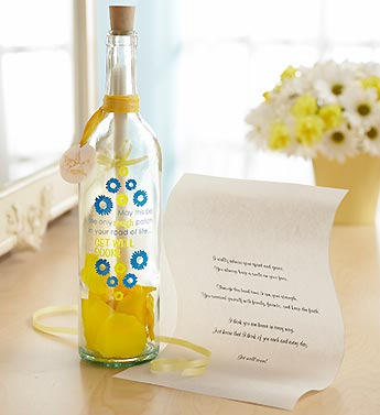 Personalized Message in a Bottle� Get Well