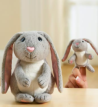 Mommy and Baby Bunny Plush Set