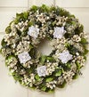White Rose Sympathy Preserved Wreath