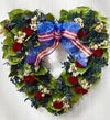 Preserved Americana Heart Wreath - 16