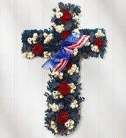 Americana Cross Preserved Wreath