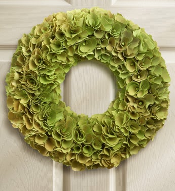 Greenwood Rose Faux Wreath