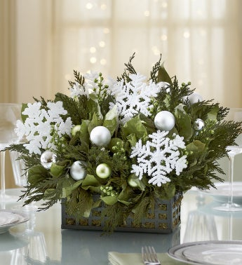 Snowflake Holiday Centerpiece