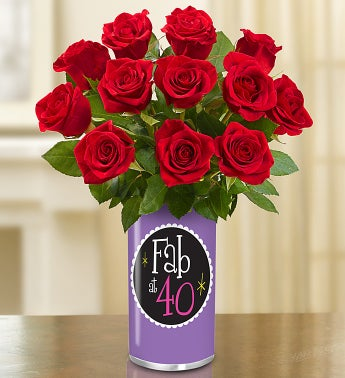 Fabulous 40th Birthday Bouquet